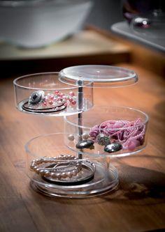 Coffret range-bijoux pivotant