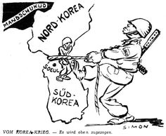 Image result for US Korean War CARTOON