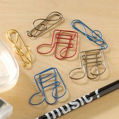 Music Theme Paper Clips at The Music Stand