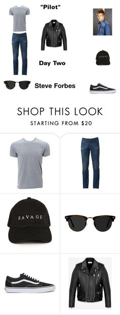 """""""Steve Forbes Worlds Colliding (The Vampire Diaires) 1.01 """"Pilot"""" by jdefloria on Polyvore featuring Urban Pipeline, Ace, Vans, Yves Saint Laurent, men's fashion and menswear"""