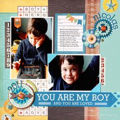 Boy scrapbook layout