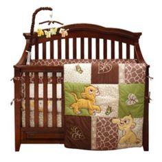 Disney The Lion King 4-pc. Go Wild Crib Set (tan/green)