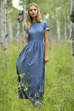 Shabby Apple Gemma Maxi Dress Blue