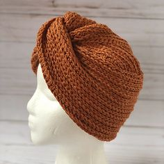 Terresa Turban pattern by Creations By Courtney, for purchase Knitted Headband Free Pattern, Crochet Turban, Beanie Pattern, Crochet Yarn, Knitting Patterns Free, Crochet Patterns, Crochet Gifts, Crochet Accessories, Crochet Projects