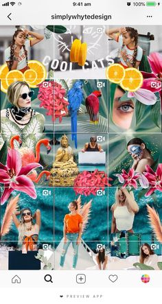 She using an awesome mix of puzzle feed, collages and moving photos. Instagram Design, Muro Instagram, Instagram Planer, Flux Instagram, Instagram Mosaic, Instagram Grid, Instagram Fashion, Instagram Apps, Creative Instagram Photo Ideas