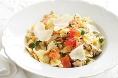 Turn a can of tuna from the pantry into a quick and easy pasta dish.