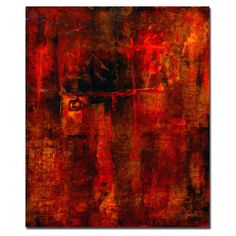Trademark Fine Art 'Red Odessy' by Pat Saunders-White Painting Print on Canvas