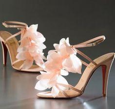 Christian Louboutin Mount Street pink petal heels