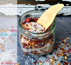 Citrus-Rose Bath Salts - like the recipe and thinking this would work better in bath tea bags.