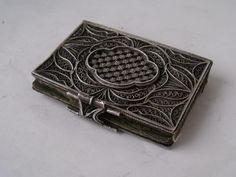 Antique Silver Filigree Sewing Needle Case c. 1800/ 5.5 cm £76