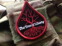 Image of The Tree of Liberty Blood Drop Morale Patch