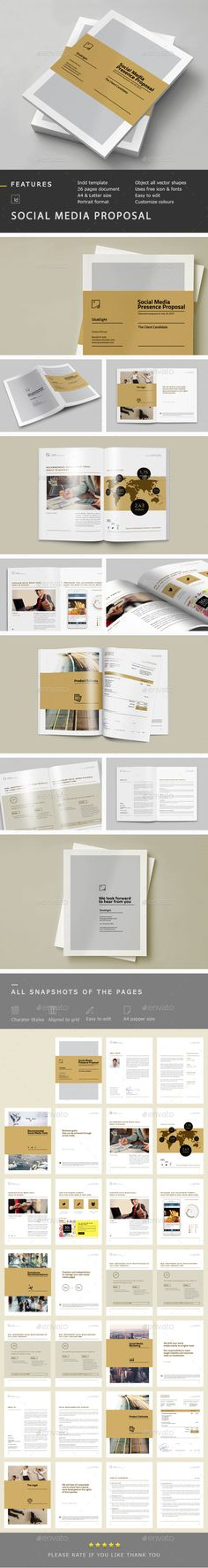 Social Media Proposal Template #proposal #invoices Download:  http://graphicriver.net/item/social-media-proposal/10447913?ref=ksioks