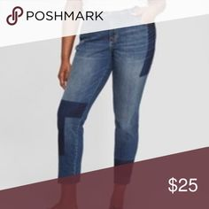 69b011bc73814 Women s Plus Size Patchwork Skinny Jeans - Univers Women s Plus Size  Patchwork Skinny Jeans - Universal Thread Dark Wash Universal Thread Jeans  Skinny