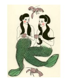 Mermaids like mellow Saturdays with the gals, just like us!