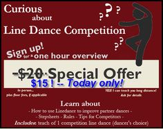 Curious about Line Dance Competition? Sign up now!