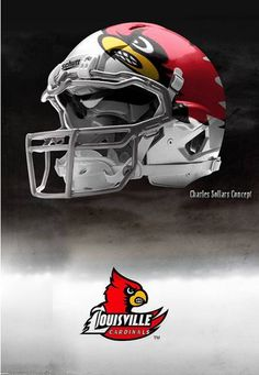 4978d475767 University of Louisville Cardinals - concept football white helmet  Louisville Football