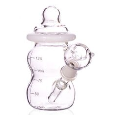 "4"" Mini Baby Bottle Water Pipe - Dry Bowl - Bongs & Water Pipes -The Online Head Shop!"