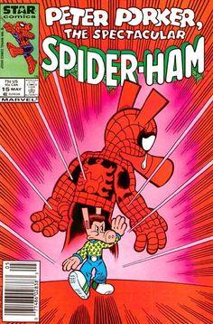 Peter Porker the Spectacular Spider-Ham Marvel/Star Comics) comic books Comic Book Covers, Comic Books Art, Marvel Dc, Marvel Comics, Marvel Funny, Lego Marvel, Studios, Spider Man, Deadpool Wallpaper