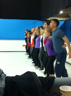 All together now! The Skaters and Celebrities all together preparing for the final Dancing on Ice Tour