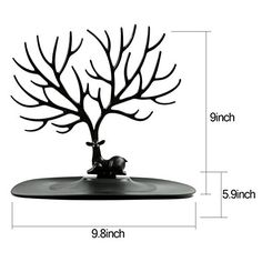 Jewelry Organizer Stand Display Tower, Earring Bracelet Ring Necklace brooches Holder Jewelry Rack - ABS Material Deer Tree-Black: Amazon.co.uk: Kitchen & Home