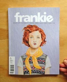 Sandra Eterovic: Frankie magazine cover.
