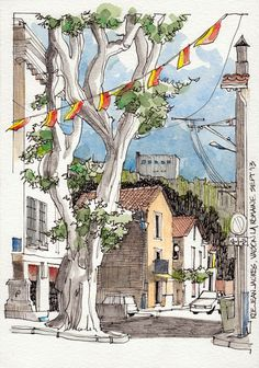 JR Sketches: Luberon, France 2013 2 - Set 2013