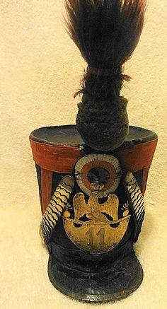 Shako da sottufficiale dei granatieri del 11 rgt. fanteria di linea - 1812