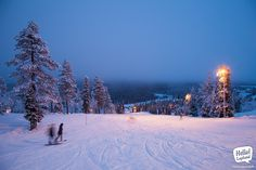 Magical winter wonderland of Ruka Ski Centre. 3 November 2013. #skiing #finland #suomi