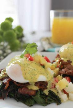 paleomg Barbacoa Eggs Benedict with Chimichurri Hollandaise #paleo # ...