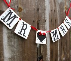 Hey, I found this really awesome Etsy listing at http://www.etsy.com/listing/92103348/wedding-garland-mr-mrs-bride-and-groom