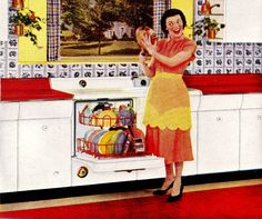 """""""Frying Pan in My Hand, Who's the Fairest in the Land??""""    """"Good Housekeeping""""October 1953"""