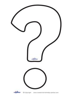Printable Question Mark 1 Decoration Coolest Free Printables