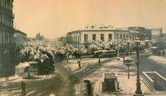 Puerta Purchena nevada (1932). Una foto muy curiosa.