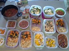 """More great """"Meal Prep"""" from our BeyondFit Life sisters!  Check out Lyndsay's healthy food prepared for the week… enough meals for her family all week, AND enough chili to freeze for another time.   Not sure where to start?  nergy and cravings.  Read more here: http://beyondfitphysiques.com/fitness-tips-meal-prep/"""