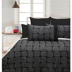 Chevron Jacquard Quilt Cover Set - Queen Bed Quilt Cover Sets, Black Quilt, Queen Beds, Comforters, Quilts, Blanket, Chevron, Furniture, Home Decor