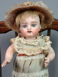 "Most RARE & Desirable Antique 8"" ALL BISQUE WRESTLER Antique Doll by KESTNER with 3 square-cut teeth."