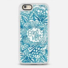 Good Blue Vibes - New Standard iPhone 6/6S #Protective Case in Clear and Clear by Montana Priest #phonecase | @casetify