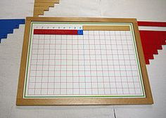 Subtraction With Strip Board - Montessori Album Montessori Kindergarten, Montessori Classroom, Montessori Materials, Image Processing, Arithmetic, First Grade, Mathematics, Presentation, Boards