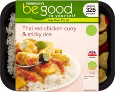 Sainsbury's Be Good to Yourself Thai Red Curry & Rice (400g)