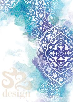 Blue and white arabic print Islamic Art Pattern, Arabic Pattern, Pattern Art, Arabic Design, Arabic Art, Arabesque, Islamic Paintings, Turkish Art, Islamic Art Calligraphy