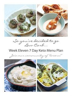 WEEK 11 | Free 7 Day Keto, Atkins, and Low Carb Diet Menu Plan, shopping and prep list from ibreatheimhungry.com