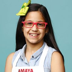 Amaya | MasterChef Junior on FOX Masterchef Junior, Master Chef, Season 8, Chefs, Cool Kitchens, Singers, Jr, Sunglasses Women, Style