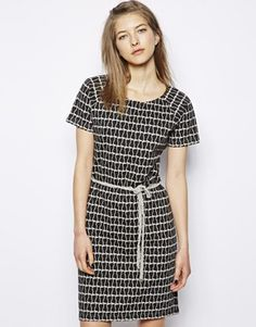 Buy Dress with Mini Cat Print at ASOS. Get the latest trends with ASOS now. Asos, Cat Lady, Dress Skirt, Short Sleeve Dresses, Glamour, Mini, Skirts, How To Wear, Clothes