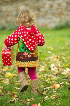 Girls Autumn Coat Girls back to school Coat Woodland Animal