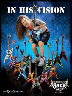 Dimebag Darrell / Dean Guitars - I'll never play guitar but I would totally buy one of these! <3