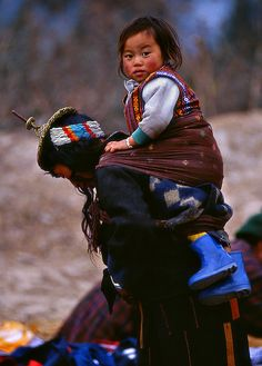 Mother and child from Bhutan