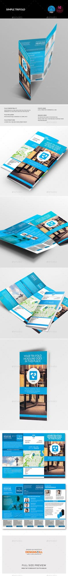 Trifold Brochure - Corporate Brochure Template PSD, InDesign INDD. Download here: http://graphicriver.net/item/trifold-brochure/11351414?s_rank=1766&ref=yinkira
