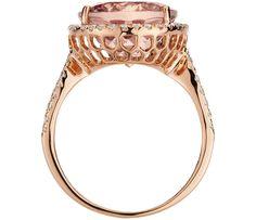 Morganite and Diamond Ring in 14k Rose Gold | Blue Nile