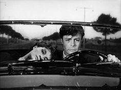 """Anouk Aimée+Marcello Mastroianni in """"La Dolce Vita,"""" 1960.    Directed by Federico Fellini"""
