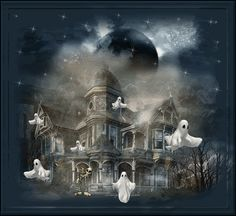 Ghost Mansion Gif mansion animated house gif halloween ghost haunted